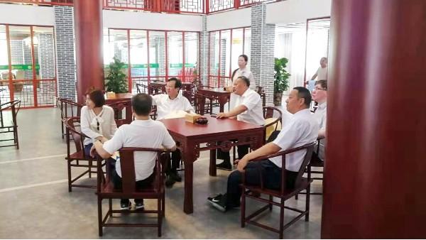 中共中央办公厅调研室龙旭局长,省委付博副秘书长等一行到大湾村走访
